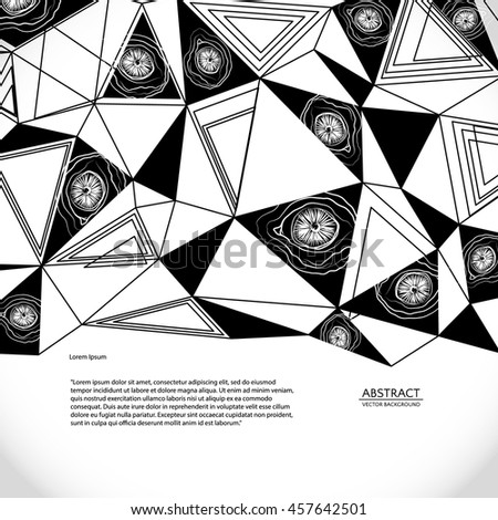 Abstract background, vector illustration. Scientific educational background for presentation. - stock vector