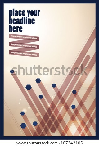 Abstract background/vector/lay out design/book cover - stock vector