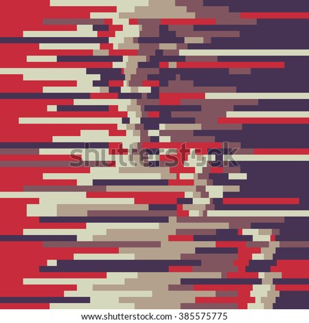Abstract background vector pattern in glitch style design for creative print poster, website,  brochure cover and other design projects. Glitch vector background. Glitch pattern. Digital background.  - stock vector
