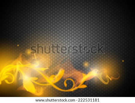 abstract background vector with fire  - stock vector