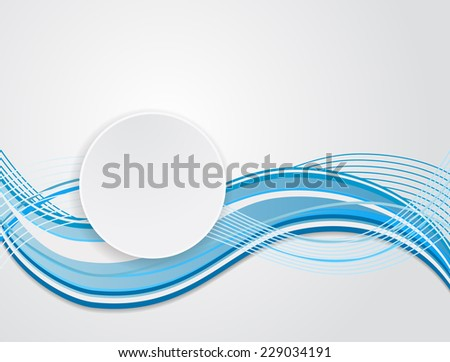 abstract background water stripped pattern with label design - stock vector