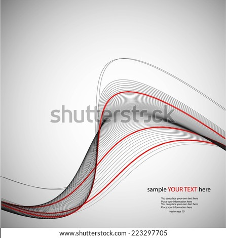 Abstract background, waves - stock vector