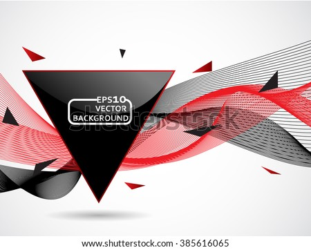 Abstract background, waves and triangle