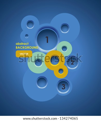 Abstract background, web design bubbles - stock vector