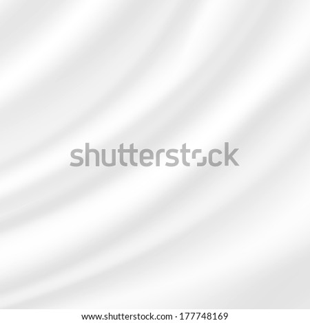 Abstract background, white fabric, waving in the wind - stock vector
