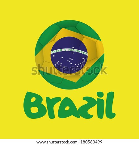 abstract background with a brazil allusive objects