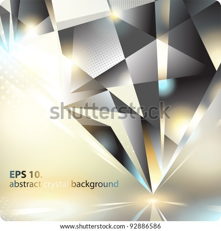 Abstract background with a crystal. Eps10. - stock vector