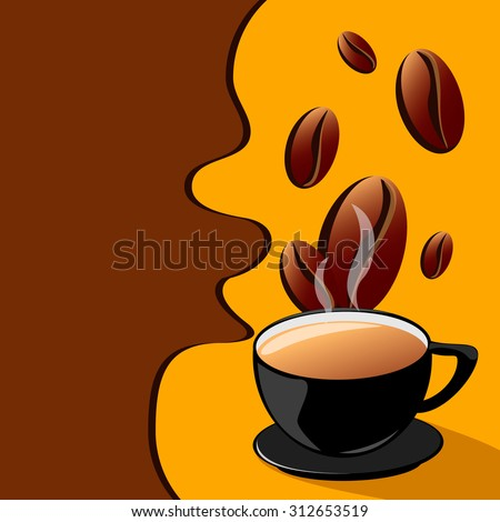 Abstract background with a cup of coffee. for menu, restaurant, cafe, bar, coffeehouse - stock vector