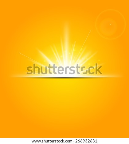 Abstract Background with a summer sun burst
