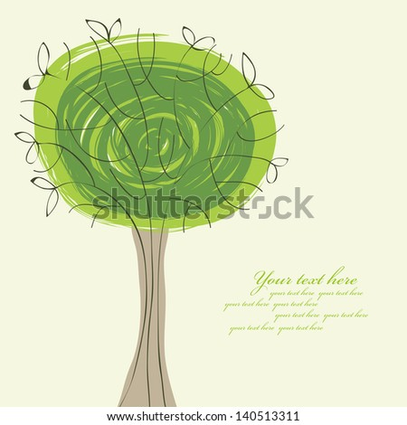 abstract background with a tree