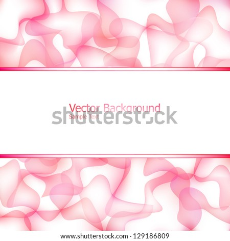 Abstract background with abstract mesh curve elements and copy space in the center - stock vector