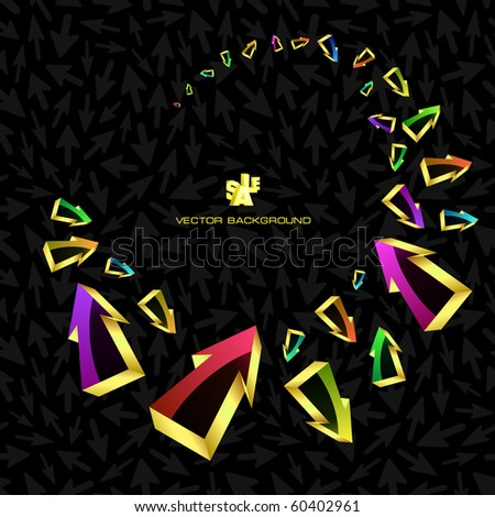Abstract background with arrow signs. - stock vector