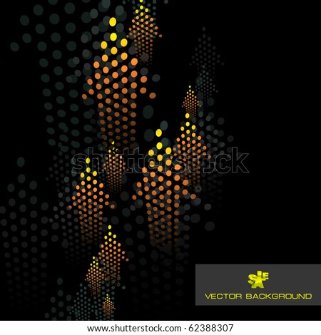 Abstract background with arrow. Vector illustration. - stock vector