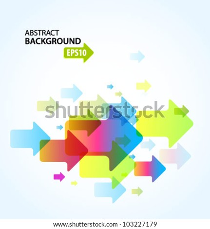 Abstract background with arrows. Vector. - stock vector