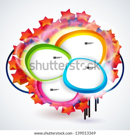 Abstract background with banners of empty frames for your web design. - stock vector