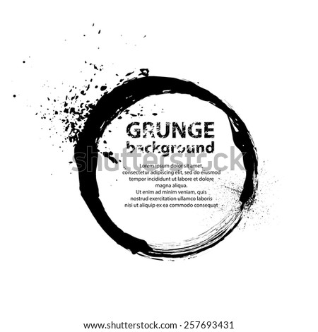Abstract background with black circle ink blots. eps10 - stock vector