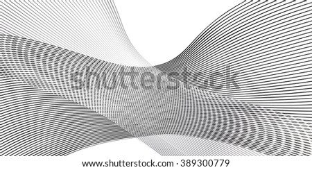 Abstract background with black lines on white background. Vector illustration. For Art, Print, Web graphic design. - stock vector