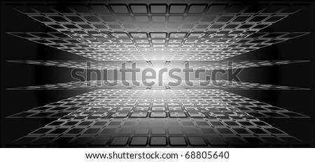Abstract background with blending rectangle shapes. Vector illustration.