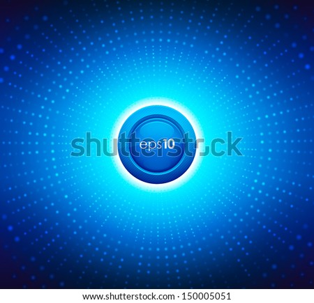Abstract background with blue circles. Vector illustration. - stock vector