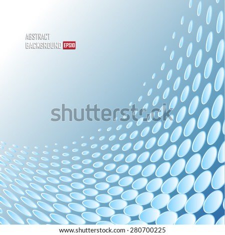 Abstract  background with blue dots - Illustration - stock vector