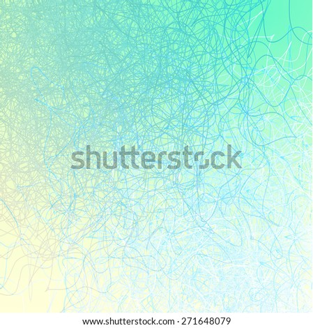 abstract background with blue hair - stock vector