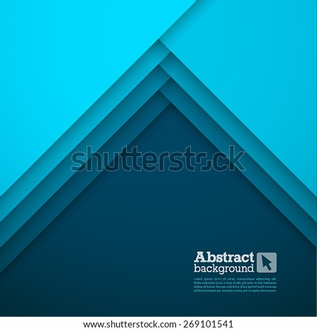 Abstract background with blue layers. Vector illustration. - stock vector