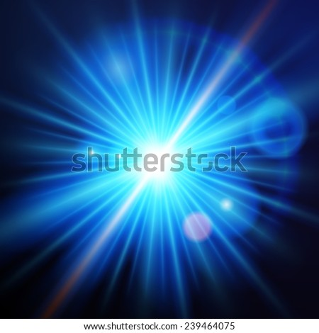 abstract background with blue light - stock vector