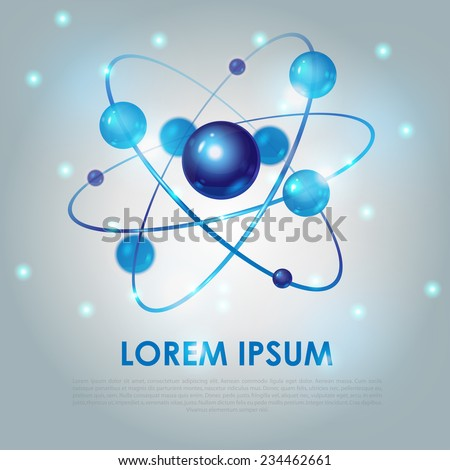 abstract background with blue molecule - stock vector