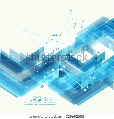 Abstract background with blue stripes corner. Concept  new technology and dynamic motion. Digital Data Visualization. For cover book, brochure, flyer, poster, magazine, booklet, leaflet - stock vector