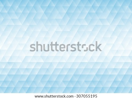 Abstract background with blue triangular shapes - stock vector
