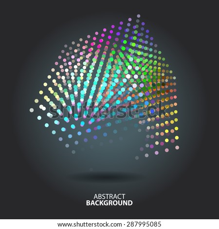 Abstract background with blur dots and lines on theme digital technology and internet - stock vector