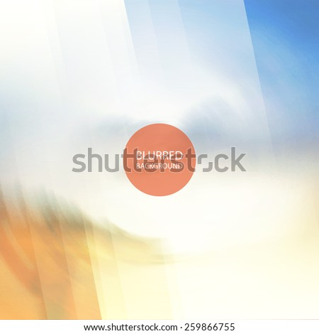 Abstract Background with Blurred Image - stock vector
