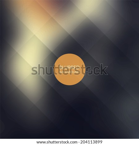 Abstract Background with Blurred Image and Lines Grid - stock vector