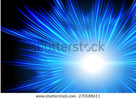 abstract background with blurred magic neon blue light rays. Vector illustration. dark blue Light background for computer graphic website internet and business. wave. curve. creative - stock vector
