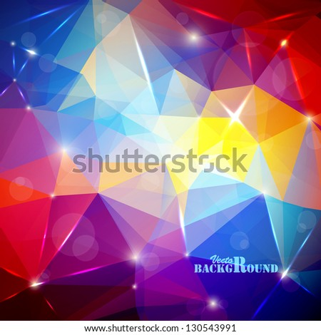 Abstract background with bokeh and flares - stock vector