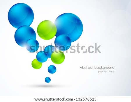 Abstract background with bubbles - stock vector