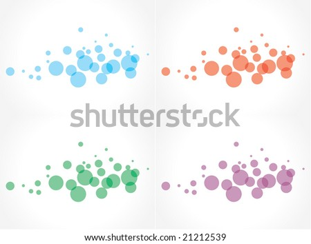 Abstract background with bubbles in the different color - stock vector