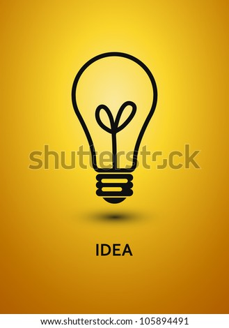 Abstract background with bulb. Vector illustration.