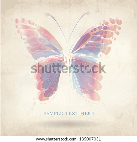 abstract background with butterfly,old paper
