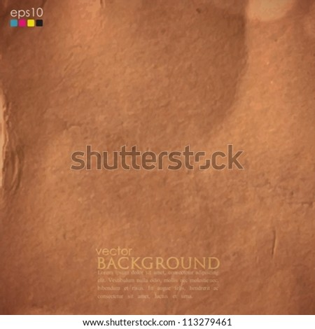 abstract background with cardboard texture - stock vector