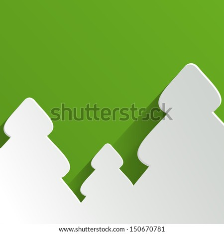 Abstract Background with Christmas Tree. Vector Illustration. - stock vector