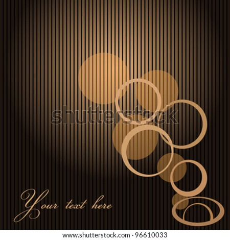 Abstract Background with circles and space for text - stock vector