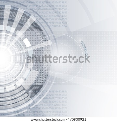 Abstract background with circles. Concept technology.