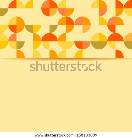 abstract background with circles on an yellow background.vector - stock vector