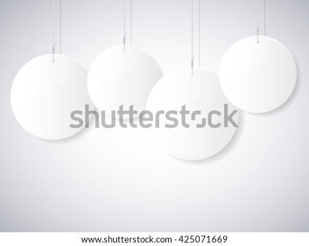 Abstract background with circles on ropes. Vector illustration. - stock vector