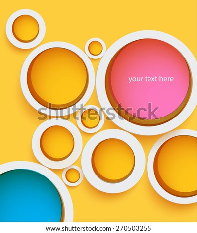 abstract background with circles. Vector illustration - stock vector