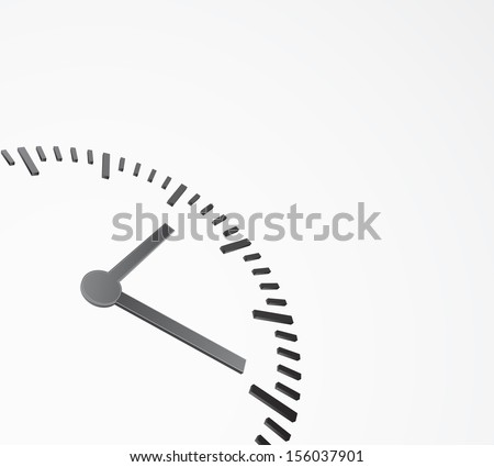 abstract background with clock 3d - stock vector