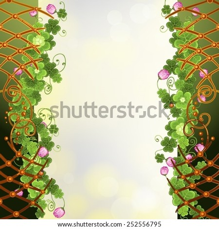 Abstract background with clover - stock vector