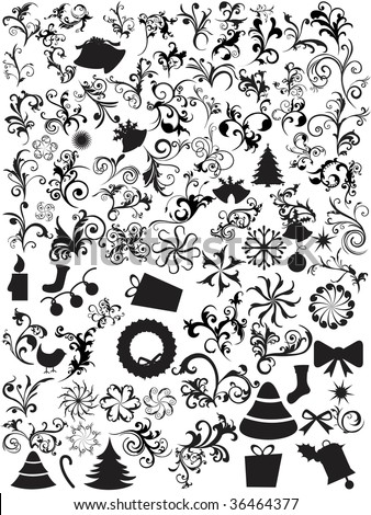 abstract background with collection of mixed icons - stock vector