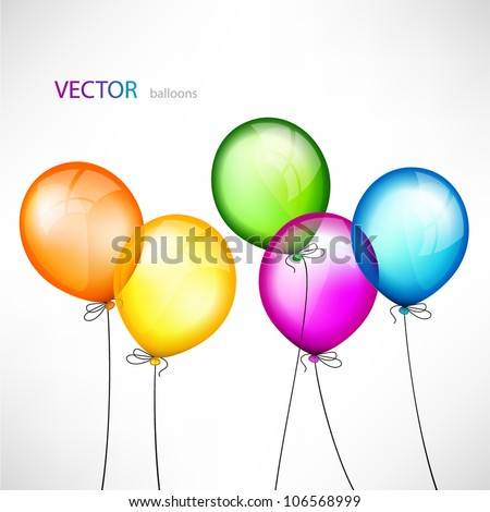Abstract background with color balloons - stock vector